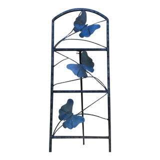 Trellis Handcrafted Steel Butterfly Trellis For Sale
