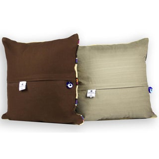 Turkish Bohemian Handwoven Multi-Colored Pillows - Set of 2 Preview