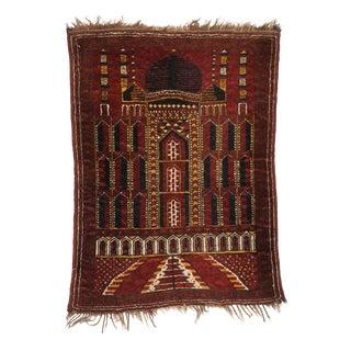 Antique Afghan Prayer Rug 02'07 X 03'07 For Sale