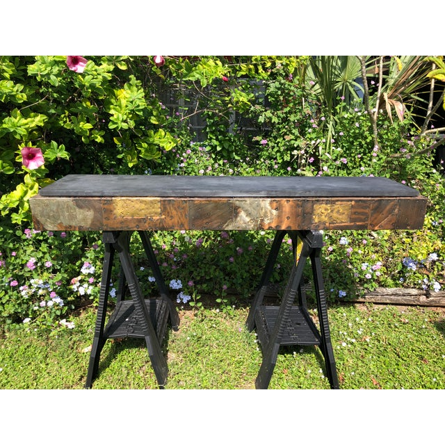 1970s Mid-Century Vintage Paul Evans for Directional Pe17 Wall Mounted Console Table For Sale - Image 11 of 11