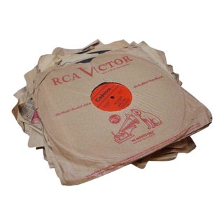 Antique Records in Paper Sleeves - Set of 9 For Sale