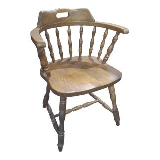 1950s Mid-Century Americana Wood Yugoslavian Captain Chair