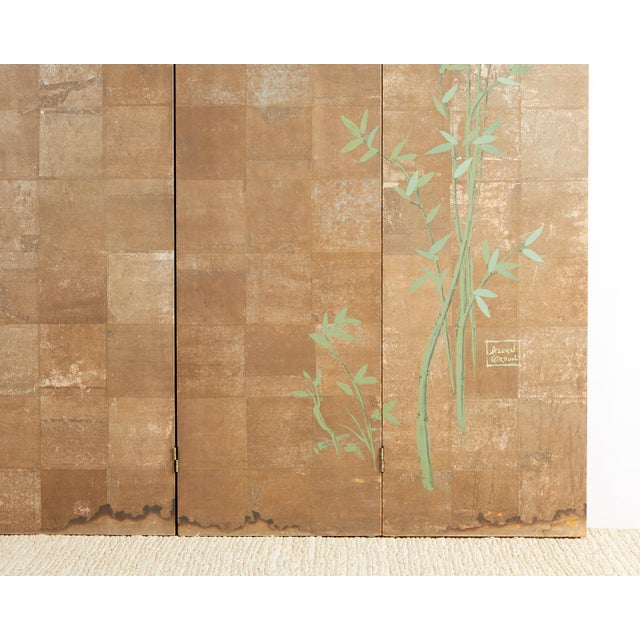 Chinoiserie Six-Panel Screen Inspired by Robert Crowder For Sale - Image 11 of 13