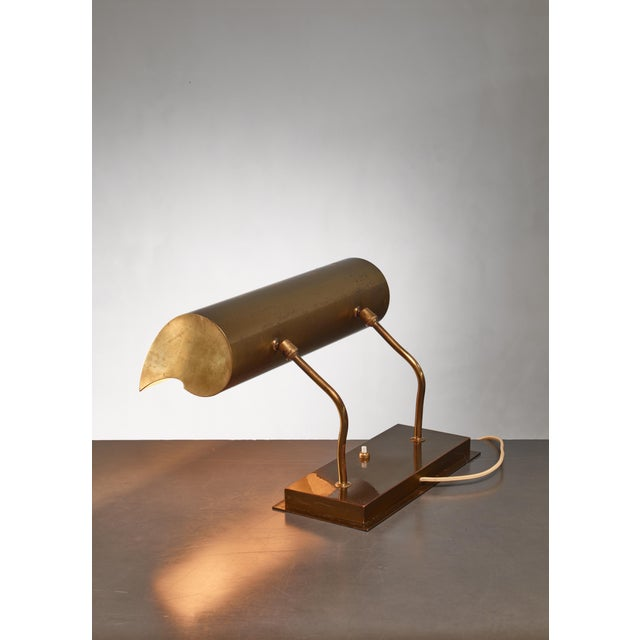 Brass Angelo Lelli Brassdesk Lamp for Arredoluce, Italy For Sale - Image 7 of 10