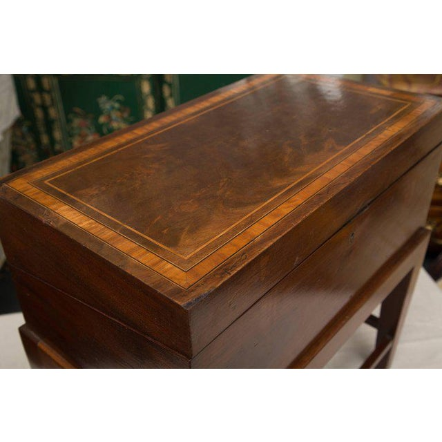 Brown 19th Century Mahogany Lap Desk on Later Stand For Sale - Image 8 of 9