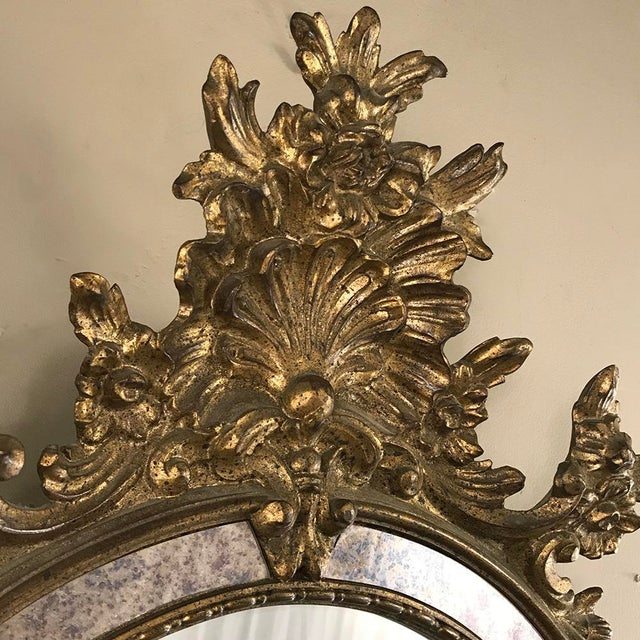 Mid 20th Century Mid-Century Italian Venetian Gilded Mirror For Sale - Image 5 of 13