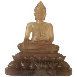 Chinese Rock Crystal Buddha Sculpture For Sale