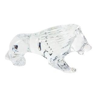 Baccarat Crystal Lion Figurine For Sale