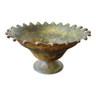 Vintage Bronze Decorative Bowl For Sale