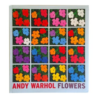 """Andy Warhol Flowers"" Rare 1st Edition Hardcover Exhibition Collector's Art Book For Sale"