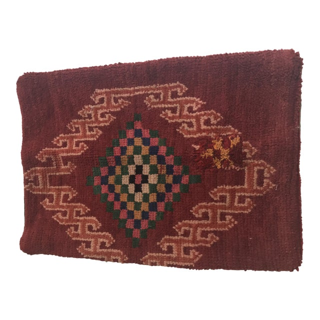 Vintage Moroccan Wool Pillow - Image 1 of 10