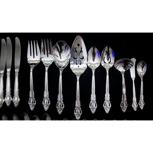 Traditional Vintage International Silverplate Empress Pattern Flatware - 50 Pieces For Sale - Image 3 of 8