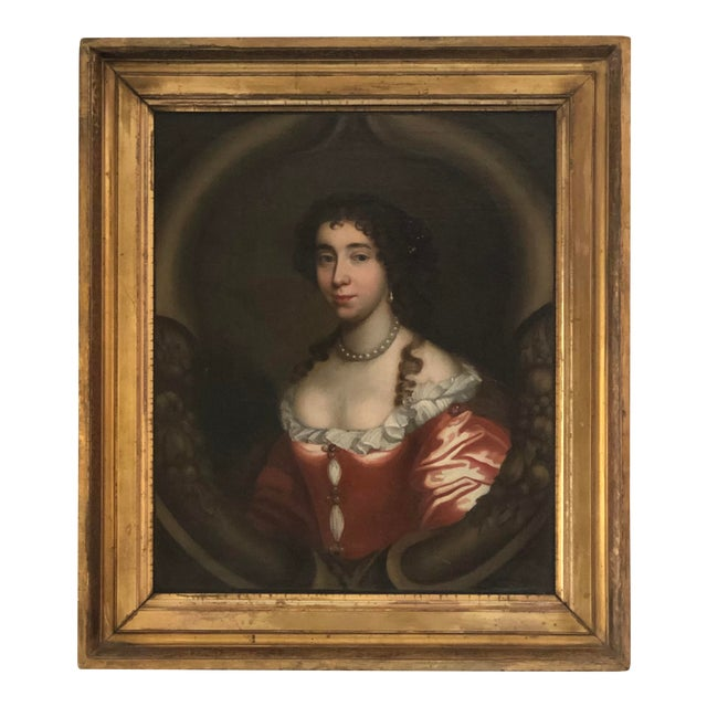 17th Century Oil on Canvas Painting For Sale