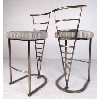 Pair of Contemporary Modern Bar Stools by Dia Preview