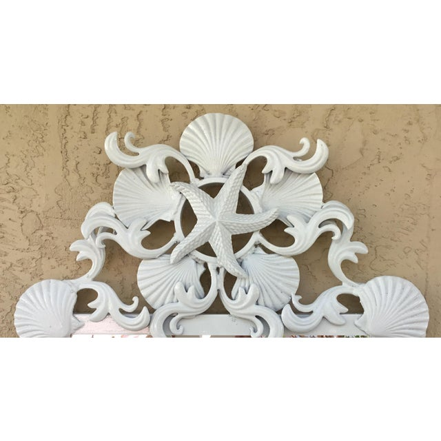 Seashell Iron Mirrors - a Pair For Sale - Image 4 of 13
