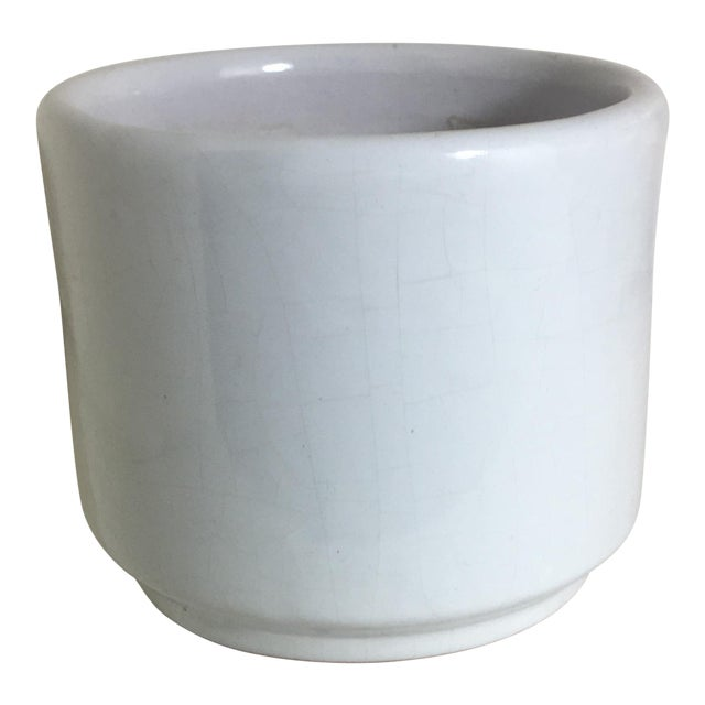 Vintage Small White Gloss Gainey Style Planter - Image 1 of 7
