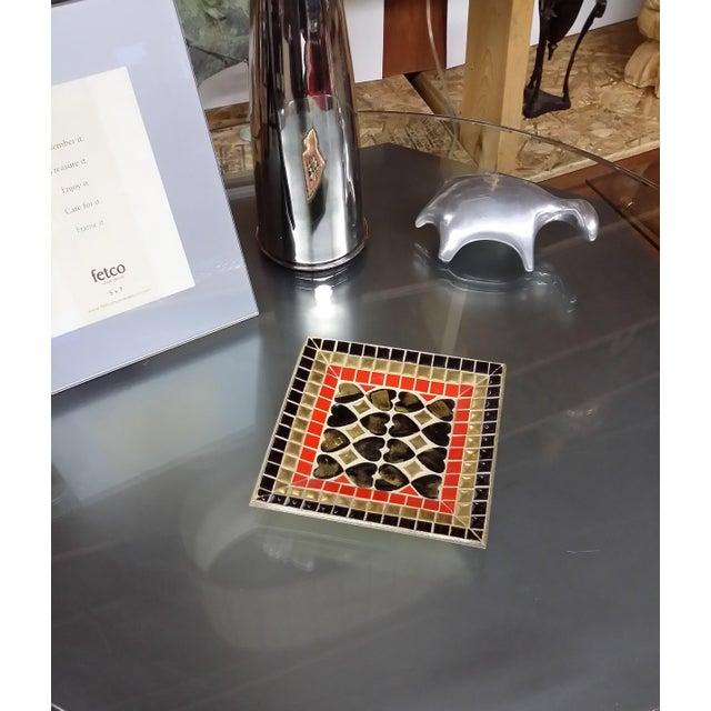Art Deco Ceramic Heart Tile Tray - Image 5 of 8