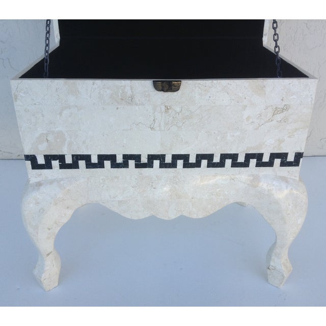 Maitland Smith Tessellated Footed Standing Chest For Sale - Image 9 of 11
