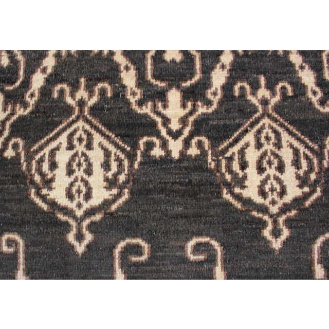 """Hand Knotted Ikat Rug by Aara Rugs Inc. - 9'5"""" X 11'9"""" For Sale - Image 5 of 5"""