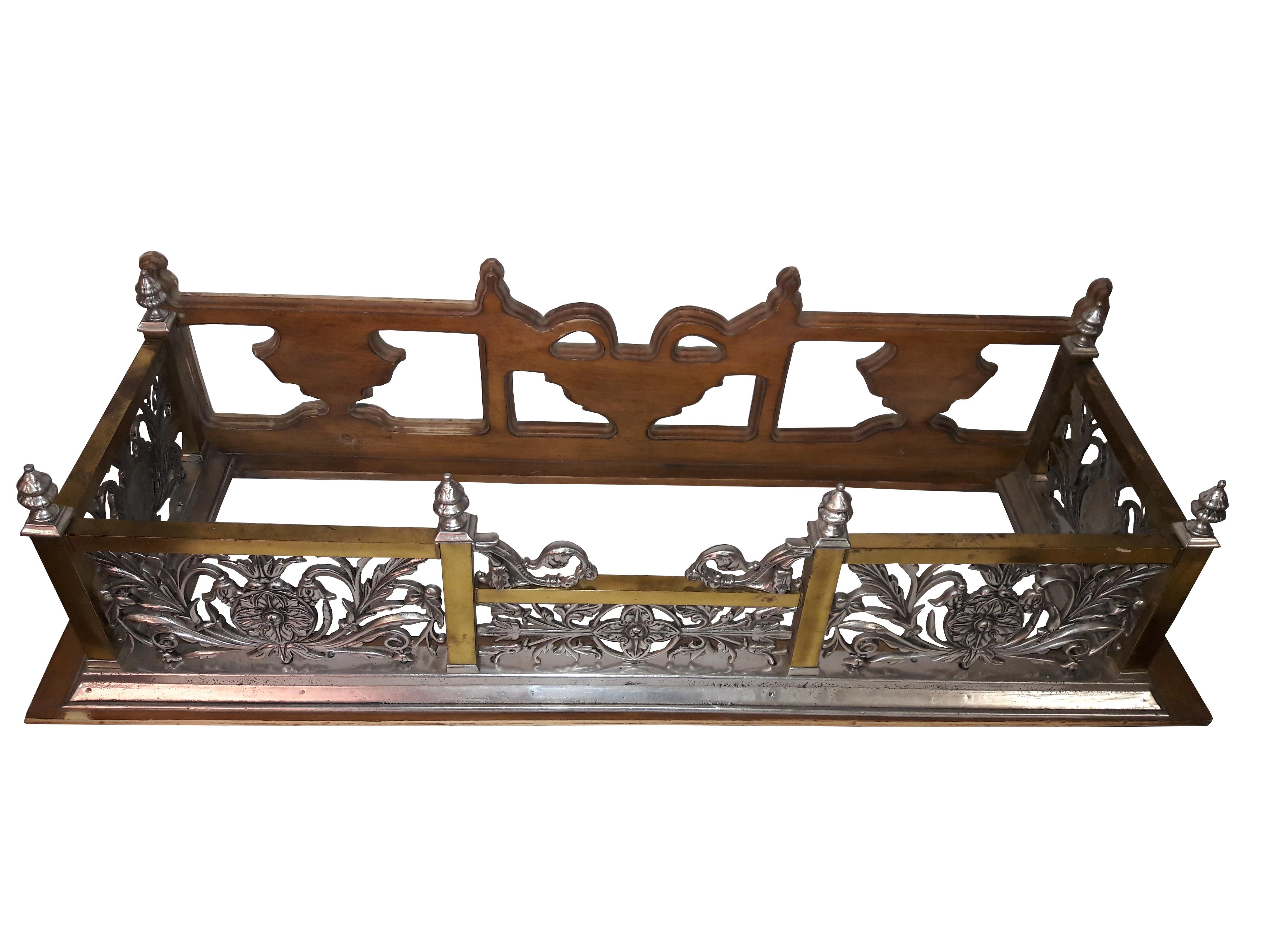 Art Nouveau Style Fireplace Surround Bench Fender Architectural Wall Shelf  For Sale In Philadelphia   Image