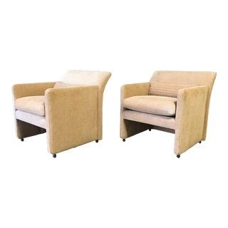 1980s Italian Post Modern Club Chairs - a Pair For Sale