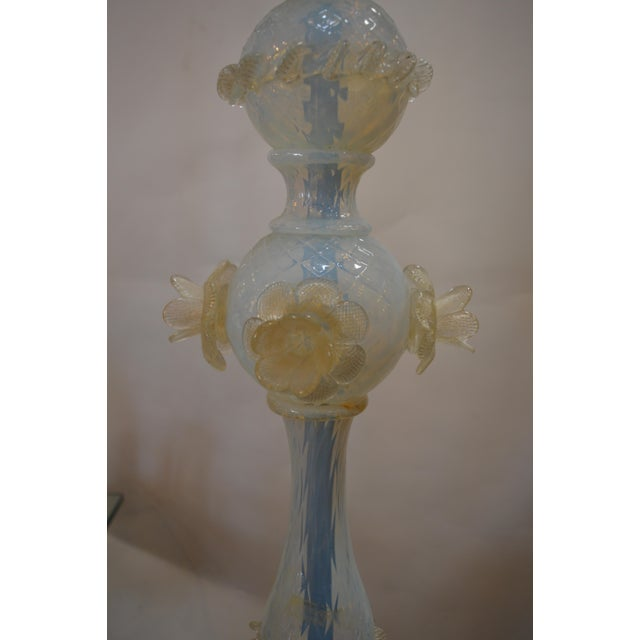 Glass Murano Opaline Glass Floor Lamp For Sale - Image 7 of 10