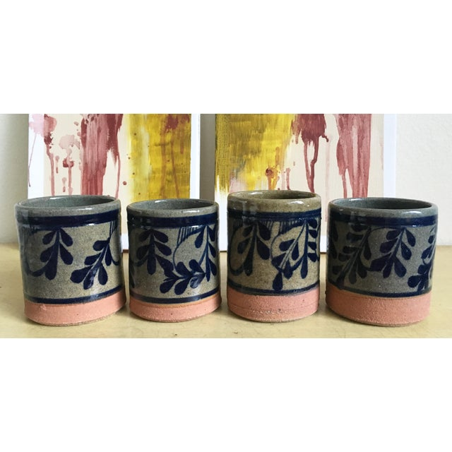 Painted Pottery & Terra Cotta Rocks Glasses - Set of 4 - Image 2 of 8