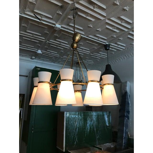 Brass Visual Comfort Aerin Clarkson Brass Chandelier For Sale - Image 7 of 7