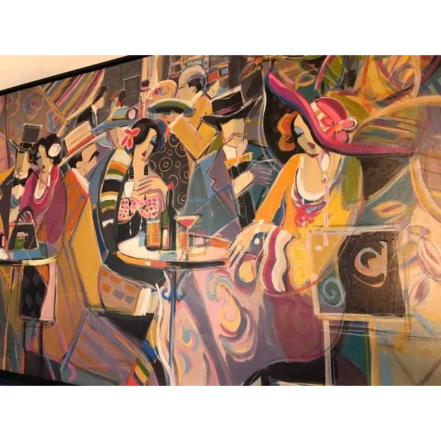 """Pink Original Isaac Maimon Signed """"Sharing Great Times"""" For Sale - Image 8 of 10"""
