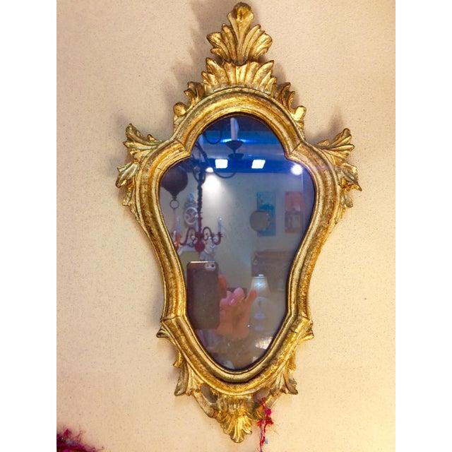 Baroque Style Escutcheon Form Gilt Mirror - Image 2 of 4