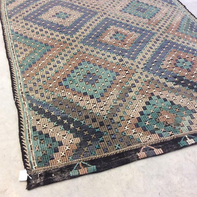 "1960's Turkish Sumac Kilim - 6'x11'6"" For Sale In Richmond - Image 6 of 13"