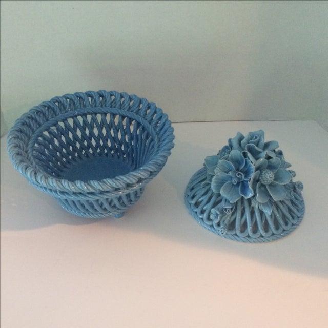 Blue Italian Potpourri Covered Dish - Image 7 of 9