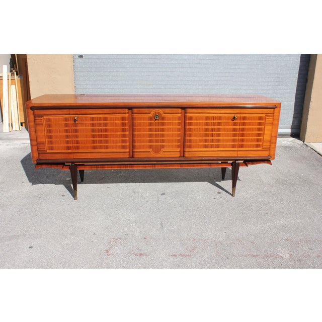 French Art Deco Macassar Ebony Sideboard Credenza For Sale - Image 9 of 13