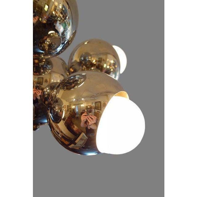 Mid-Century Eight-Light Chrome Sputnik Chandelier For Sale - Image 4 of 7