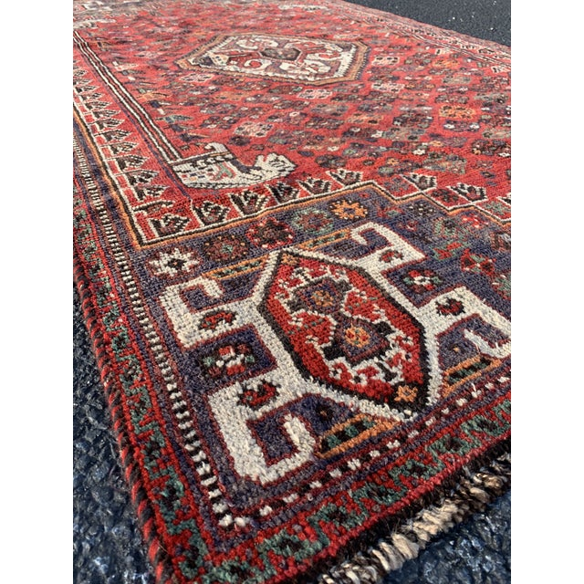 1940s 1940s Vintage Persian Qasghi Rug - 5′1″ × 7′10″ For Sale - Image 5 of 13