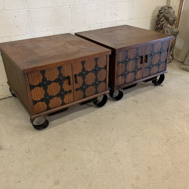 Mediterranean Lane Mid Century Spanish Style End Tables For Sale - Image 3 of 13