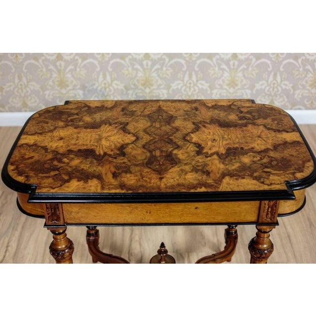 French 19th Century Eclectic Walnut Small Table For Sale - Image 3 of 11