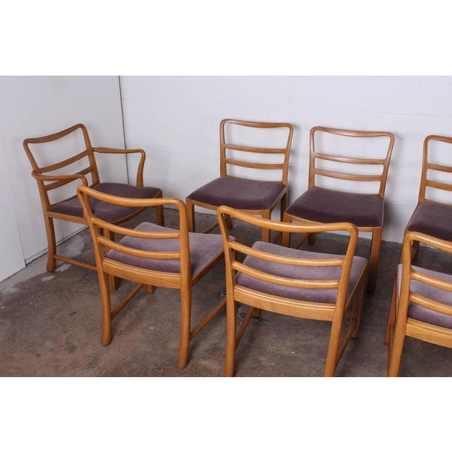 Dunbar Furniture Set of Eight Dining Chairs by Edward Wormley for Dunbar For Sale - Image 4 of 10