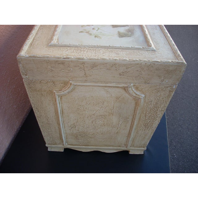 Antiqued Cream Painted Chest For Sale - Image 4 of 5