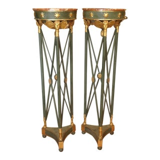 18th Century Italian Neoclassical Pedestals - a Pair For Sale