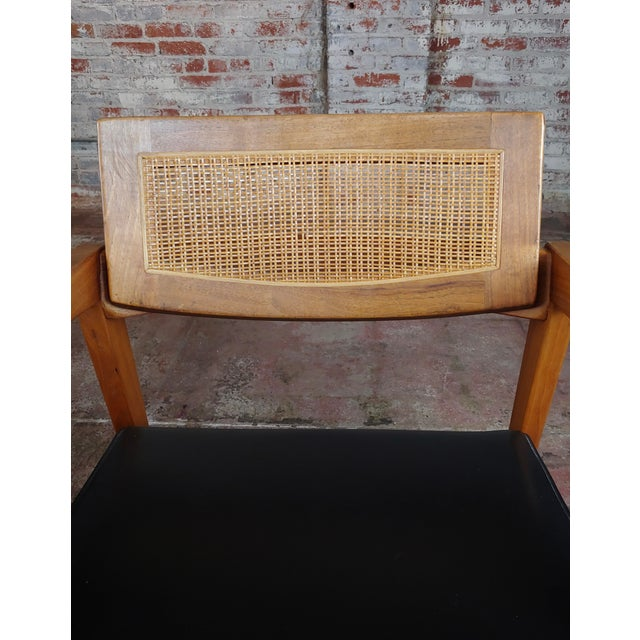 Brown Gunlocke 1960s Mid Century Modern Cane Back Arm Chairs -Set of 4 For Sale - Image 8 of 11
