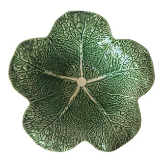 "Cabbage Leaf Majolica 13"" Salad Bowl-Bordallo Pinheiro"
