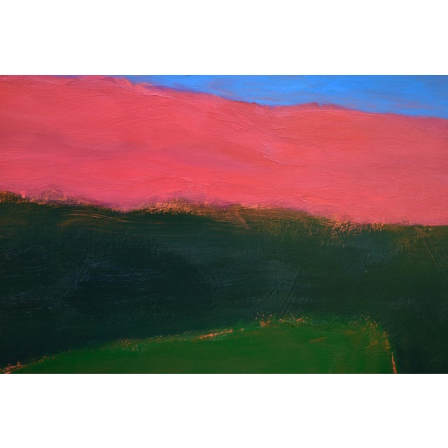 "Abstract Stephen Remick ""Field Rising at Sunset"" Contemporary Abstract Painting For Sale - Image 3 of 9"