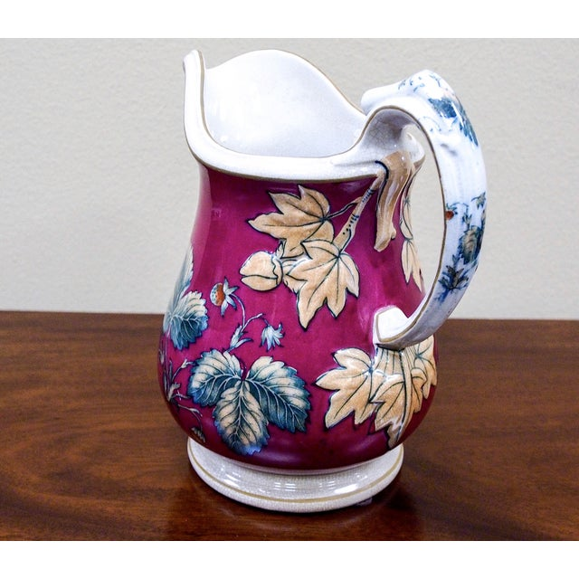 19th Century Davenport Pottery Strawberry Pitcher - Image 4 of 7