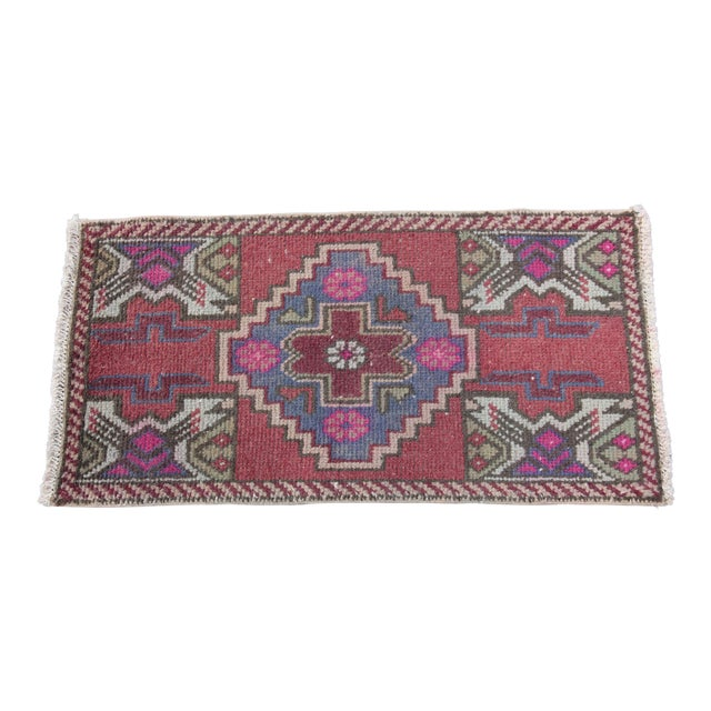Antique Turkish Carpet - 1′6″ × 3′1″ - Image 1 of 11