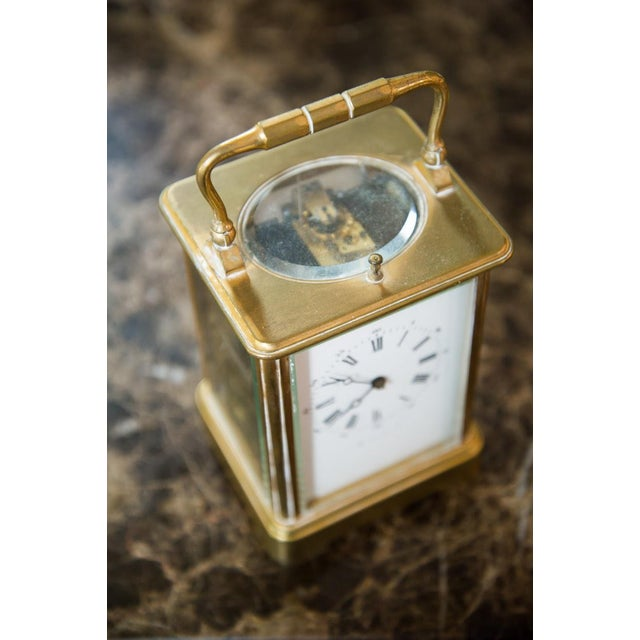 English Traditional Renard Roitel French Brass Carriage Clock For Sale - Image 3 of 7