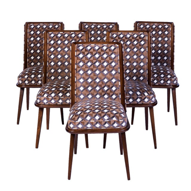 Set of Six Mid-Century Modernist Dining Chairs For Sale