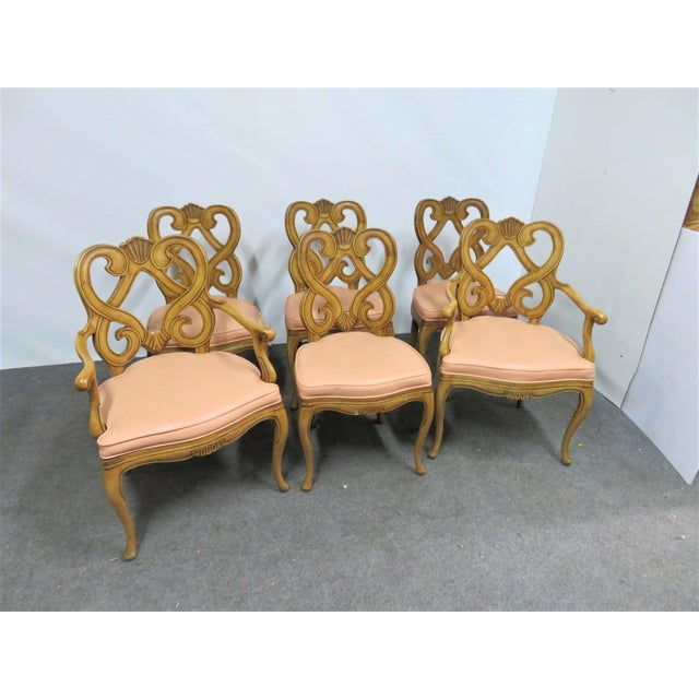 Louis XV Style Maple Shell Carved Dining Chairs- Set of 6 For Sale - Image 10 of 10