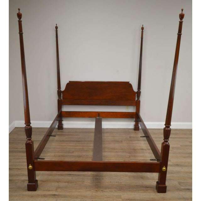 Baker Mahogany Queen Size Chippendale Style Poster Bed For Sale In Philadelphia - Image 6 of 13