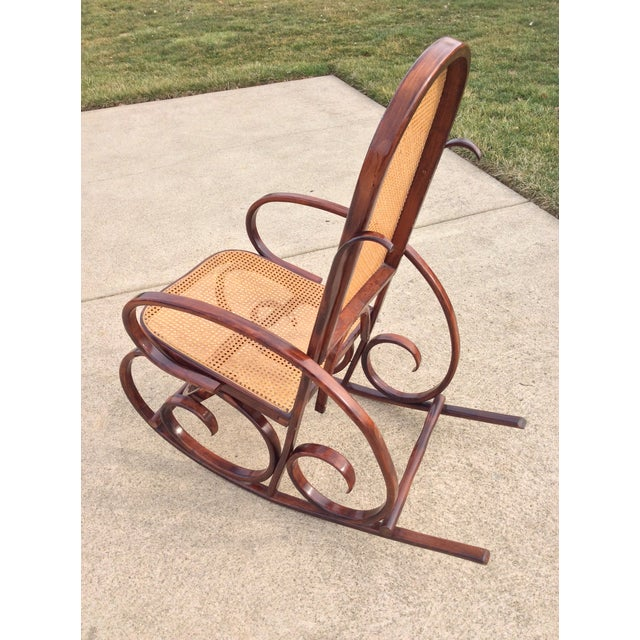 Mid Century Luigi Crassevig Thonet Style Bentwood Rocker For Sale - Image 11 of 12